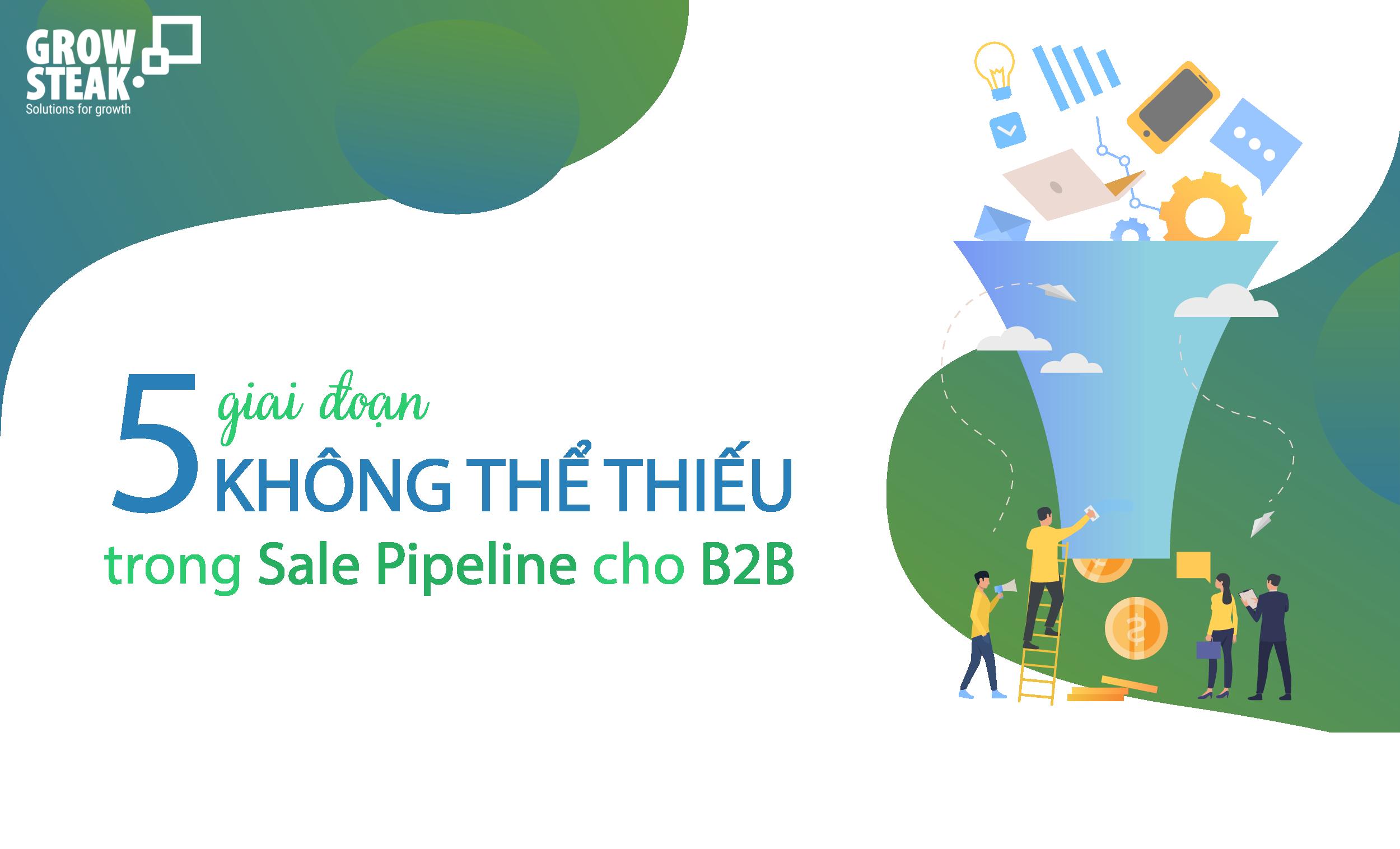 5 giai doan khong the thieu trong sale pipeline