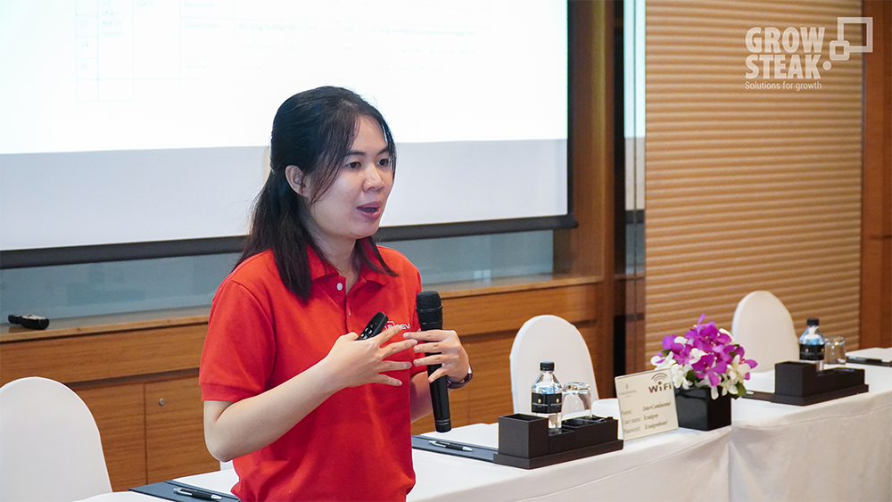 chị Thư Nguyễn trình bày về tuyển dụng áp dụng Inbound